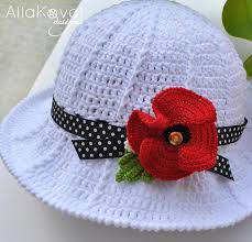 Free Crochet Hat Patterns For Toddlers Fascinating Garden Party Crochet Hat Free Pattern For Kids Adult My Little