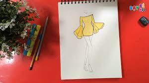 Tập thiết kế thời trang | Cách vẽ áo váy phong cách