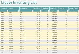 format of inventory liquor spill sheet template and stock inventory excel format free