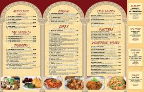 Menu – Taj Mahal Restaurant & Tea House