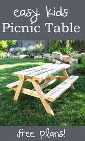 picnic table is big enough to sit a small too super easy to build design has been built hundreds of times already special thanks to jeff for