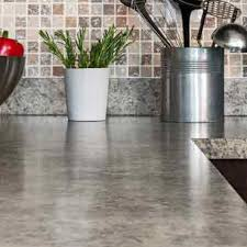 laminate counter tops are made of plastic coated synthetics with a smooth surface that s easy to clean the pieces are cut to size and finished on the ends
