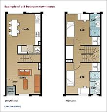 townhouse living example of a five bedroom townhouse l to r ground