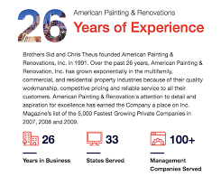 over 25 years later they have grown into one of the largest nationwide providers of painting and renovation services specializing in apartment communities