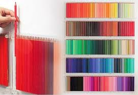 diy wall art ideas rainbow colored pencil display