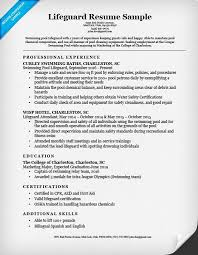 Best Resume Sample Adorable 28 Best Lifeguard Resume Sample Templates WiseStep