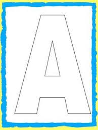 Free Printable Upper Case Alphabet Template Printables Pinterest