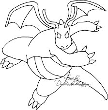 Small Picture Pokemon Coloring Pages Dragonite Es Coloring Pages