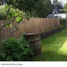 garden screen. Terra Split Bamboo Screening Roll - 5m X 1.5m Garden Screen
