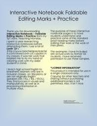 best editing marks ideas editing symbols  interactive notebook editing marks practice