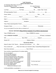 patient information form patient information form optometry fillable fill online printable