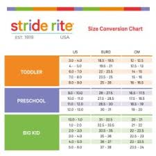 Paradigmatic Stride Rite Shoe Size In Inches Shoe Scale