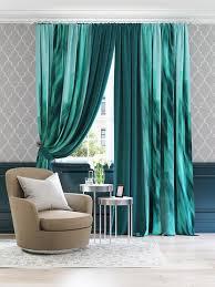 Купить шторы с подхватом из репса <b>Киопи</b> (<b>умеренный синий</b> ...