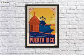 visit beautiful puerto rico poster wall decor frame