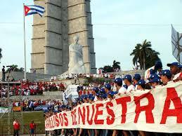 Desfile del 1ero. de mayo en Cuba