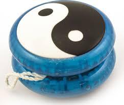 Игра <b>Эврика Волчок на</b> шнуре <b>Yo-Yo</b> Инь Янь, 99057, синий