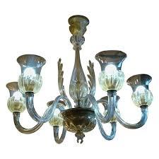 1950s italian light murano art glass chandelier by seguso for veronese for