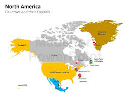 Us Map Editable In Powerpoint North America Map Editable Powerpoint Slides