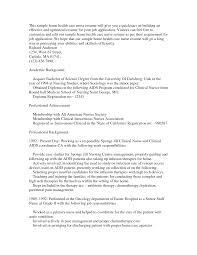 Professional Resume For Graduate Nurse