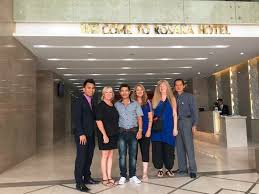 Hotel Manager Hotel Manager Mr Nguyen Tran Cat Far Right Saying Goodbye