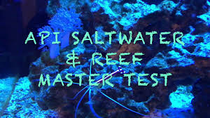 Saltwater Test Kit Chart How To Test A Saltwater Reef Tank Using Api Test Kit Youtube