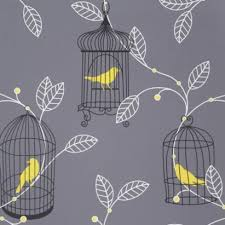 Yellow n grey wallpaper