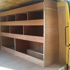 cargo van shelving ideas wood shelving storage sprinter forum van