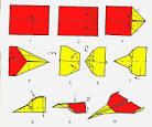 Оригами из бумаги самолет схема для начинающих
