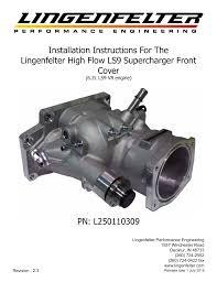 L250110309 Lingenfelter C6 Zr1 Corvette Supercharger Front