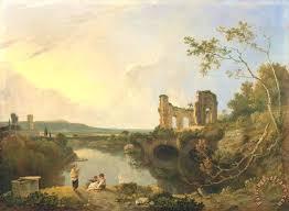 italian landscape morning painting richard wilson italian landscape morning art print