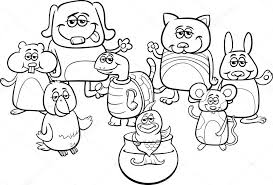 Kleine Huisdieren Kleurplaten Boek Stockvector Izakowski 122508712