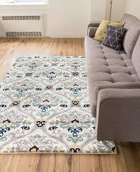 com ogee waves lattice grey gold blue ivory fl area rug 8x10 7 10 x 9 10 modern oriental geometric soft pile contemporary carpet thick