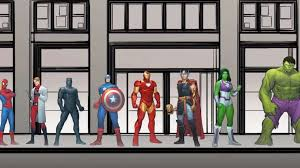 Avengers Chart This Nifty Video Chart Measures The Heights Of Every Marvel