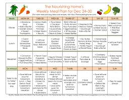 one week menu planner meal plan monday december 24 january 6 meals check and food