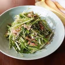 水菜 ツナ サラダ