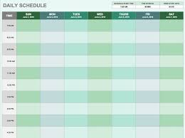 Professional Schedule Template Daily Schedule Template If Youre A User Experience
