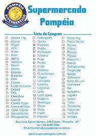 Lista De Compras Supermercado Lista De Compras Supermercado Pompeia