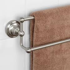 double towel bar brushed nickel. 18\ Double Towel Bar Brushed Nickel