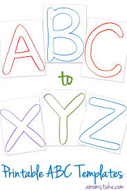 Templates Alphabet Letters Free Abc Printable Letter Templates For Preschool Or