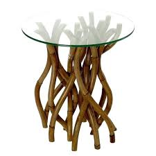 glass top side table rattan and glass coffee table twisted rattan side table with glass top glass top side table