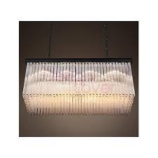 rh 1930s astor crystal rectangular chandelier
