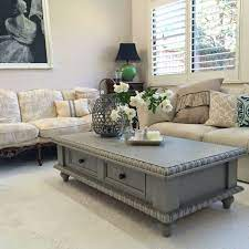 pine coffee table makeover painted