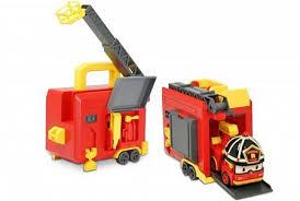 <b>Silverlit Кейс</b> с <b>трансформером</b> Рой 12.5 см с гаражом ROBOCAR ...