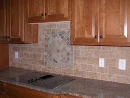 Mural Tiles For Kitchen Decor Kitchen Charming Kitchen Decoration With Brown Granite Counter