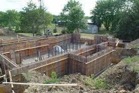 block foundations poured concrete