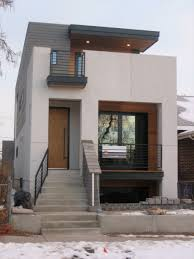 The Unique Counter Trend  Small Concrete Block Homes Architecture    Endearing Prefabricated Concrete Homes Architecture Natty Concrete Staircase As Home Entrance Gray Brick Wall Exposed Modern Box House Cool Ideas Of Small