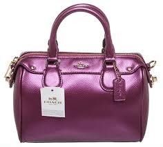 coach handbags purple leather