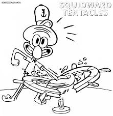 Squidward Coloring Pages - glum.me