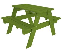 Amazon POLYWOOD Outdoor Furniture Kid Picnic Table Lime