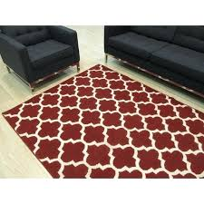 red moroccan trellis rug handmade wool contemporary reversible 5 x 8 red moroccan style rug
